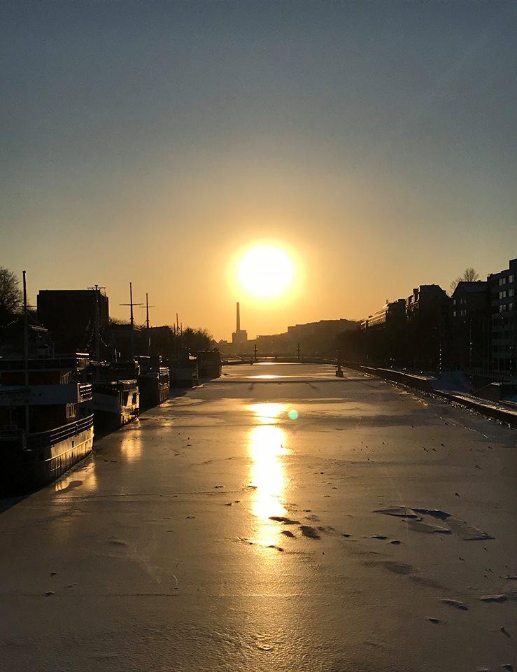 Auringonlasku Turku